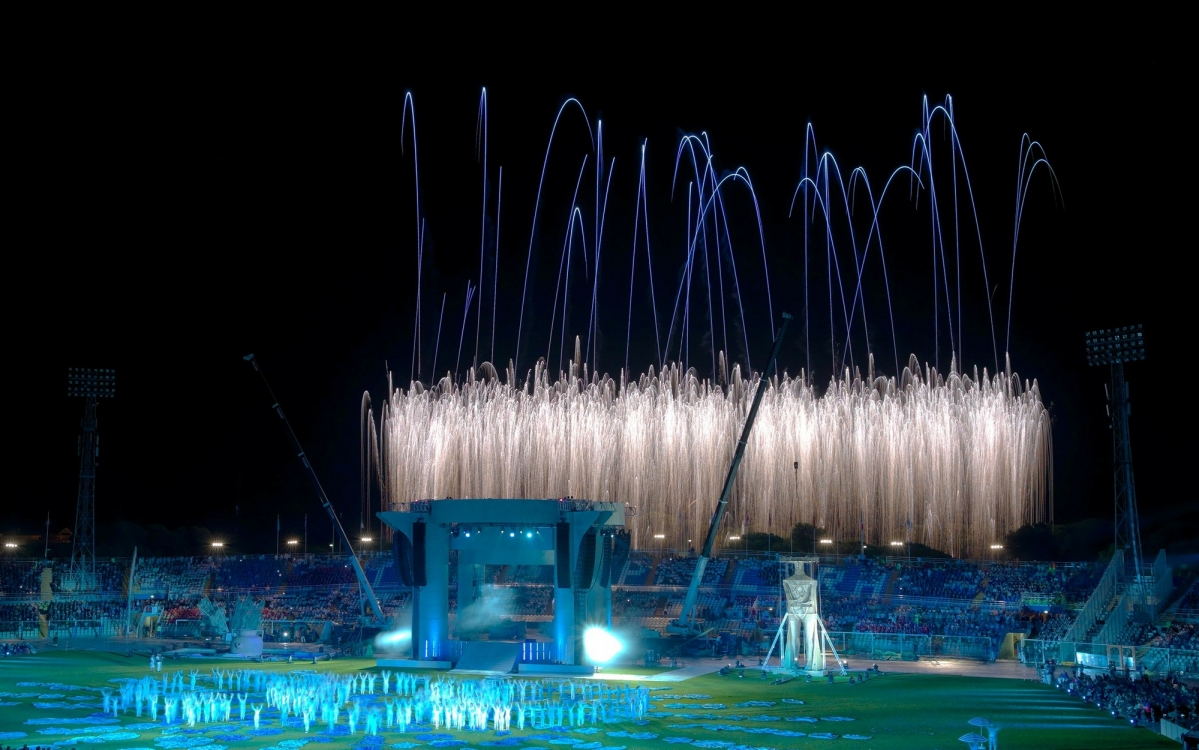 Opening and Closing Cerimonies of the XVI Mediterranean Games
