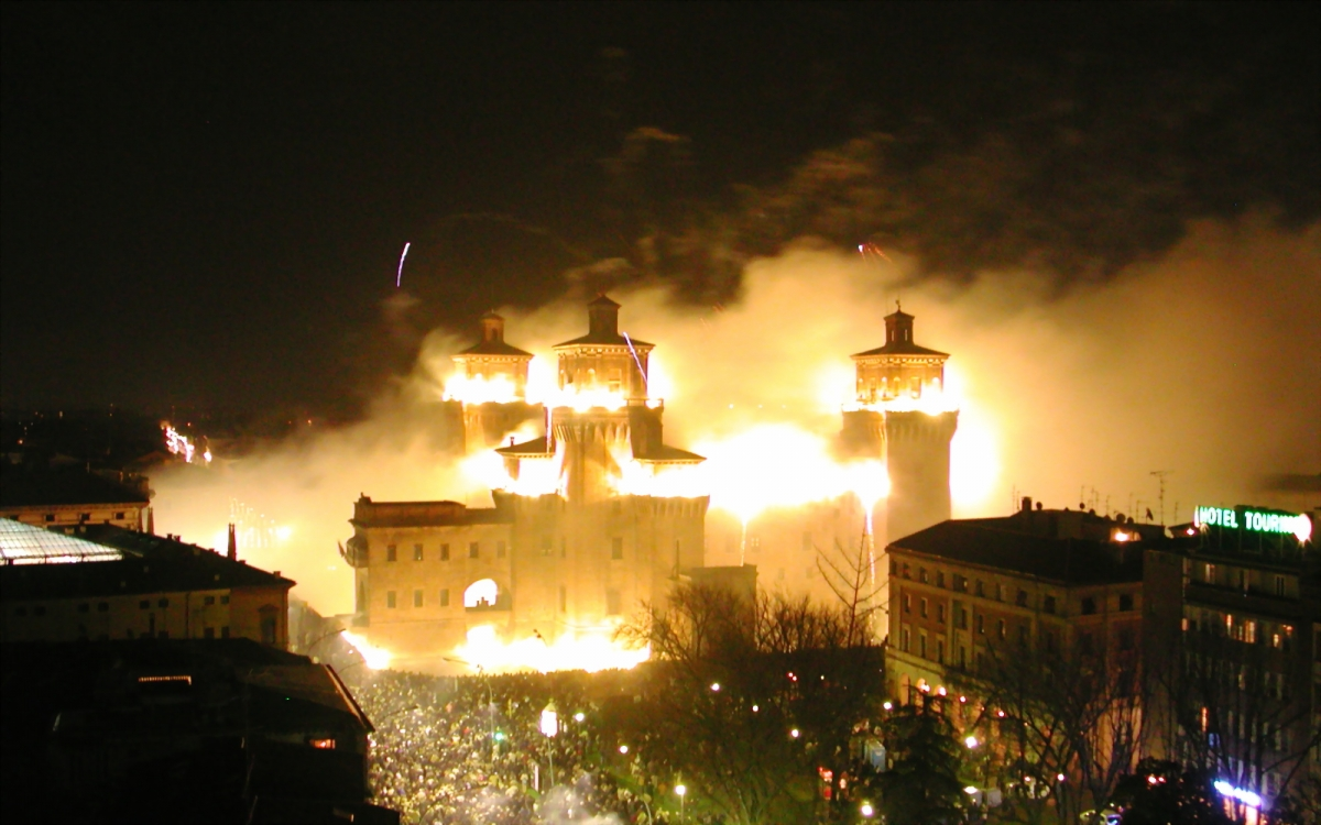 Burning of the Castle